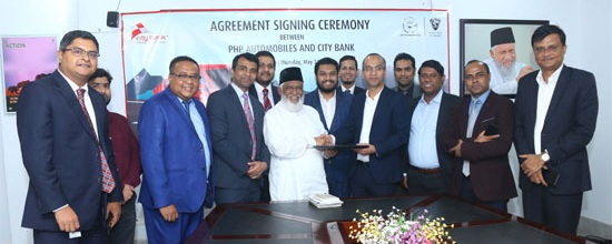 City Bank signs agreement with PHP Automobiles