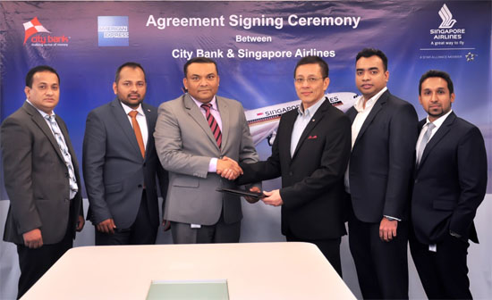 City Bank inked a deal with Singapore Airlines