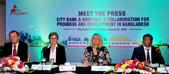 Norfund delegation visits City Bank and discusses future ties