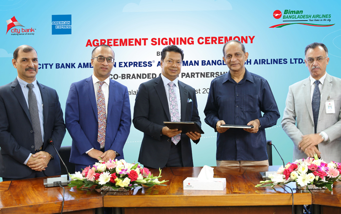 City Bank Signs Agreement with Biman Bangladesh to launch Co-Branded Credit Card